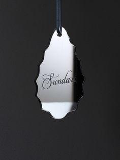 Silver Mirror Personalised Christmas Tree Decoration