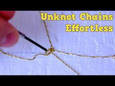 How To Remove Knots From A Chain Within A Minute Or Less