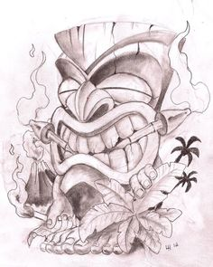 Viewing Gallery For - Tiki Man Drawing