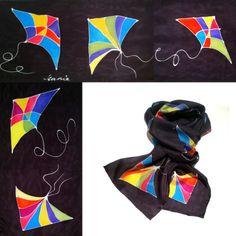 Silk Kite Scarf - Jean Lawrence | Touchstone Gallery