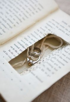 hideaway book: a safe place for the rings.