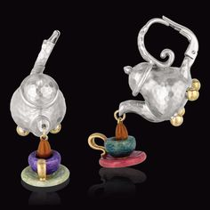 Charming Prediletto Tea Pot and Cup earrings