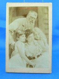 Franz v.Lenbach mit Frau und Töchter Orig.Foto