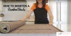 how to shorten a bamboo shade