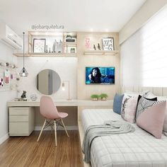 Teen girl bedrooms, delightfully sensational teen girl room decor reference reference 7883377486 to view now. Modern Teen Bedrooms, Teenage Girl Bedrooms, Bedroom Ideas For Teen Girls Tumblr, Trendy Bedroom, Teenage Room, Bedroom Modern, Girl Rooms, Small Room Bedroom, Small Rooms