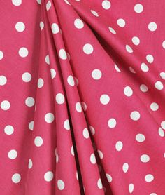 One pair Hot Pink Polka Dot CurtainS by EllaBellaFabric on Etsy