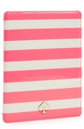 kate spade new york 'jane' stripe iPad folio case