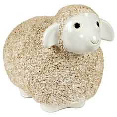 Large Vintage Ceramic Sheep