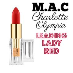 MAC Charlotte Olympia Lipstick Leading Lady Red MAC Charlotte Olympia Lipstick Shade: Leading Lady Red *BRAND NEW* in package All my cosmetic products are 100% authentic  TRADES/HOLDS PRICE FIRM Please help me keep my closet friendly & drama free. If you're unhappy with my listing just purchase elsewhere Happy Poshing MAC Cosmetics Makeup Lipstick