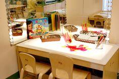 Light Table     Reggio Emilia Inspired Preschool Art Studio Atelier