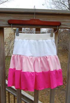 DIY Clothes Refashion: DIY Tiered skirt