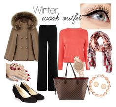 """Winter work outfit"" by bkleemann on Polyvore featuring Luminess Air, Diane Von Furstenberg, L.K.Bennett, Express, River Island, Hobbs, Links of London and Louis Vuitton"
