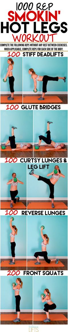 1000 rep Smokin' Hot Legs Workout || lushiouslifts.com