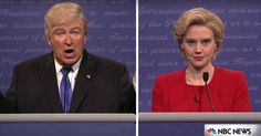 'Saturday Night Live' opened with a parody of the first debate, which pitted Kate McKinnon's Hillary Clinton against Alec Baldwin's Donald Trump.