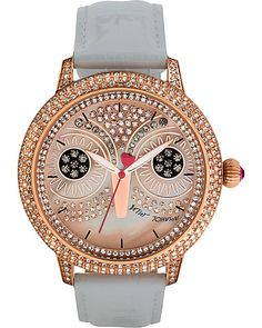 PINK OWL WHITE STRAP WATCH WHITE accessories jewelry watches fashion