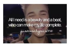 I can make your life complete justin Justin Bieber Song Lyrics, Justin Bieber Quotes, All About Justin Bieber, Best Quotes, Funny Quotes, K Board, Change My Life, I Smile, My Idol