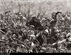The last stand of Colonel Martin Schwartz, leader of 2,000 Landsknecht (German, Swiss and Dutch) mercenaries, who died at the Battle of Stoke Field, England 1487.