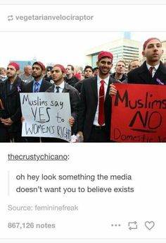 """Bad bad media, give us how most/alot of people of a religion are, not just The bad.  Like, I dont know one person (Who is a muslim) Who is against anything, They are like Everybody Else. They ARE """"everybody else""""/us."""