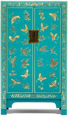 Medium Classic Chinese Cabinet - Blue