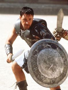 The Gladiator, Maximus-Russell Crowe I'm a Gladiator! Gladiator Maximus, Gladiator Movie, Gladiator 2000, As Roma, Les Miserables, Russell Crowe Gladiator, Gladiator Costumes, Marshal Arts, Roman Warriors