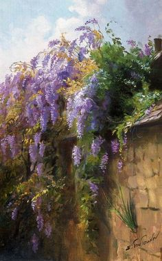 Sergei Toutounov.  Not as named by artist but 'Wisteria' - used to flower every spring at my childhood home.