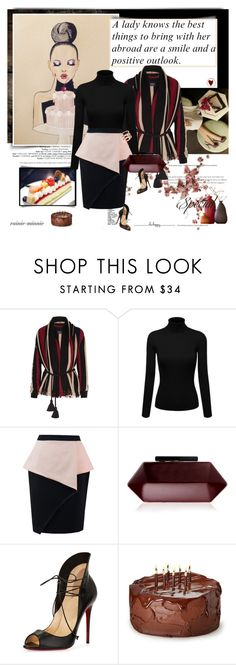 """""""Be Happy Be Elegance"""" by rainie-minnie ❤ liked on Polyvore featuring Lanvin, Lipsy, Christian Louboutin and EF Collection"""