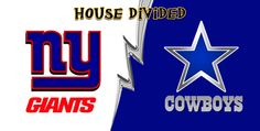Giants & Cowboys House Divided Fan Plate License Plate, Giants & Cowboys House Divided Fan Plate License Tag
