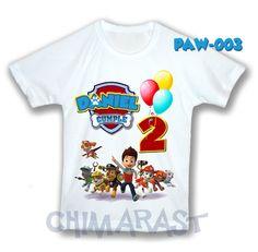 Paw Patrol Franela Camisa Personalizada Cumpleaños Cotillon - Bs. 4.600,00