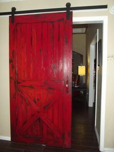 I love that Red Barn Door