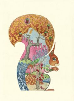Red squirrel by artist Daniel Mackie