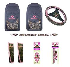 Mossy Oak Pink for Her Auto / Truck Accessories 8 Pc Set Front Floormats, Decals by NUTZ&JOLTZ, http://www.amazon.com/dp/B00F67KYQW/ref=cm_sw_r_pi_dp_mX2qsb0ASZEQB