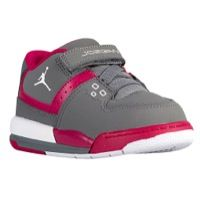 Jordan Flight 23 - Girls' Toddler - Grey / White