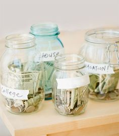 """Every night, find all the bills in your wallet with serial numbers that end in 4 and put them in a jar. By the end of the week, you'll have a nice little roll of """"extra"""" greenbacks. Deposit the money once a week to keep your mitts off it. Set it and forget it Automate a transfer into savings on the day your paycheck is deposited. You will quickly learn to live on what's left. Start with something easy, such as one hour of salary per week (or per month, if times are tight). Send yourself a…"""