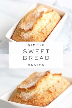 Sweet Bread is so incredibly easy to make and only takes 5 minutes hands on time. This easy Sweet Bread recipe requires Breakfast Bread Recipes, Quick Bread Recipes, Breakfast Snacks, Banana Bread Recipes, Sweet Recipes, Baking Recipes, Dessert Recipes, Almond Milk Recipes, Mince Recipes