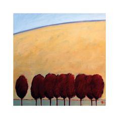 TEN RED PEAR, 32x32 $205 framed