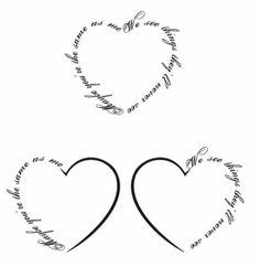 Friend heart tattoo.