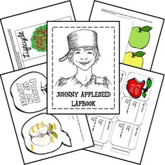 Johnny Appleseed and Apples  Unit Study and Lapbook Printables  Research by Lisa H. Johnny Appleseed images by Breezy Tulip lapbook printables by Ami Brainerd