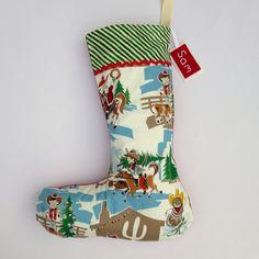 Christmas Stocking - Retro Christmas Cowboy Santa £18.00