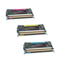 N 3PK Compatible X748H4CG X748H4MG X748H4YG Toner Cartridge For Lexmark C746DN C746DTN C746N C748DE