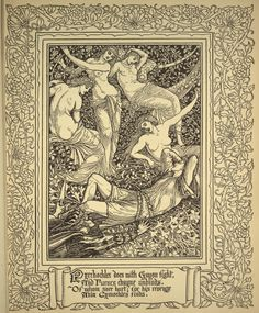 From Spenser's Faerie Queene vol. 2 ~ Walter Crane (1845-1915)