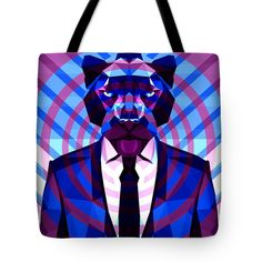Panther Tote Bag Panther Bag Beach Bag Shopping Yoga Bag by Filip Aleksandrov