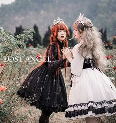 Lost Angel -The Night Witch- Gothic Lolita JSK Short Version,Lolita Dresses, Quirky Fashion, Punk Fashion, Asian Fashion, Girl Fashion, Fashion Outfits, Moda Lolita, Lolita Mode, Lolita Style, Mori Girl