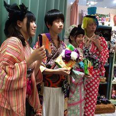 """""""【ラフォーレ】B0.5 TOKYO KAWAII MUSEE 今日は原宿ファッションウォークに参加させていただきます。 かわいい!  #kimono #キモノ #着物 #きもの #yumi_kimono #yamamotoyumi #やまもとゆみ #kawaii #harajuku #ラフォーレ原宿 #tkm"""""""