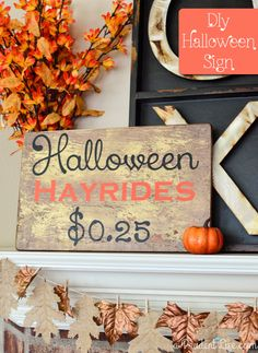 Halloween Hayride {DIY Art} Silhouette & Vinyl Project - A Prudent Life