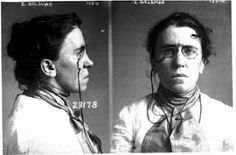 mug shot of emma goldman (political activist of the victorian era)