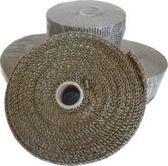 Titanium Exhaust Wrap, 7.5 metre Roll Extremely pliable for a tight and secure wrap Reduces temperature Promotes increased flow for better performance Withstands 1800˚F direct/2500˚F intermittent heat Wetting of roll is not necessary Extremely pliable for easy installation