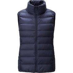 WOMEN ULTRA LIGHT DOWN VEST | UNIQLO $49 and comes in so many great colors! love the navy, olive, the #67 blue