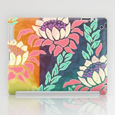 Sunrise iPad Tablet Cases by Vikki Salmela on Society6, #new #bright #tropical #Hawaiian #protea #flowers #floral #art on #iPad #tablet #cases #tech #fashion #accessory for #office #her #school #gift