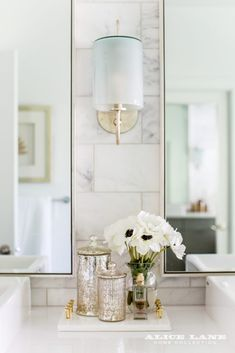 The prettiest vanity styled by Alice Lane Rural Chic - Alice Lane Home Interior Design
