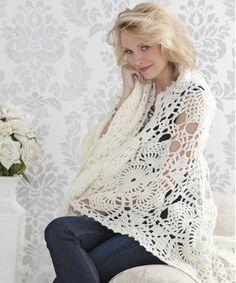 Downton Abbey Inspired Crochet Afghan // http://www.allfreecrochetafghanpatterns.com/Lace/Downton-Abbey-Inspired-Crochet-Afghan --- so pretty, so elegant -- would make a wonderful gift or even 'prayer shawl' :)